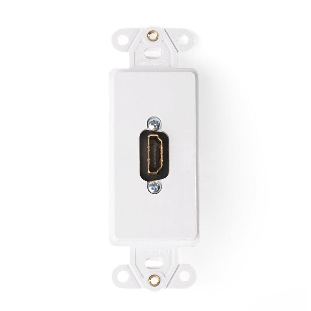 Amazon.com: Leviton 41647-W Decora Insert HDMI Wallplate, White ...