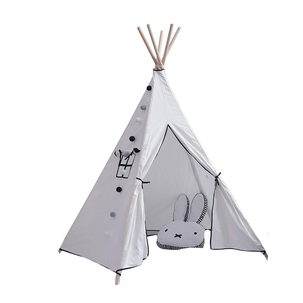 キッズテント 遊ぶテント子供のテントゲームの城 屋内ゲームのテントのポップアップゲームの家 家の居間の赤ん坊の読書コーナー 子供のためのギフト キッズテント (Color : 白, Size : 110*110*170cm) B07MH9HB9S 白 110*110*170cm