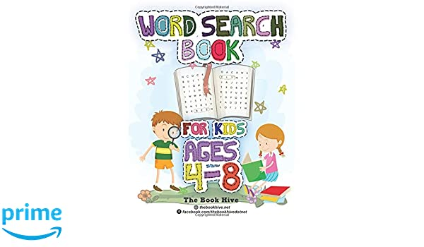 Word Search Books For Kids Ages 4 8 Word Search For Kids Ages 4 8