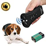 New Ultrasonic Dog Repeller, 3 in 1 Portable Anti Barking Device,Handheld Dog Repellent & Trainer Stop Barking,LED Outdoor Bark Controller,Dog Deterrent Waterproof Dog (Handheld Dog Repellent)