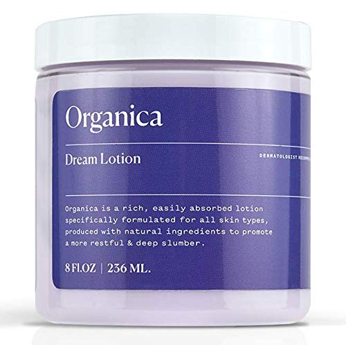 Organica Dream Lotion | Lavender Sleep Body Lotion Moisturizing Cream | Sleep Aid, Anxiety Relief, Vegan Skin Care, Natural Calm Night - Dreams Lotion Body