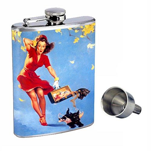 【即納】 Pin Up with B015QN9TC0 Girl Perfection inスタイル8オンスステンレススチールWhiskey Flask with Free Funnel Funnel d-165 B015QN9TC0, ミョウギマチ:01a83f14 --- domaska.lt