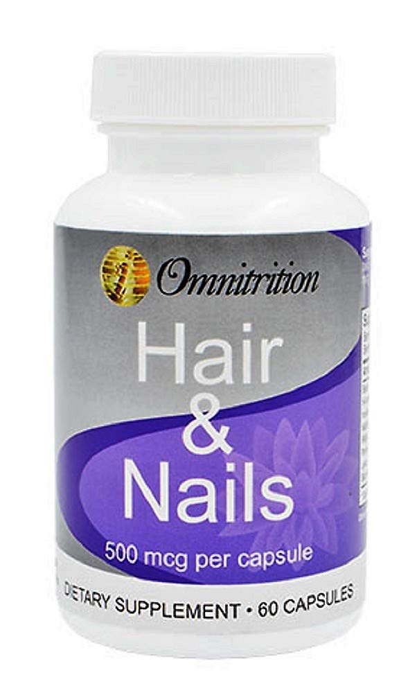 Omni Hair & Nails Dietary Supplement, 60 Capsules by Omnitrition