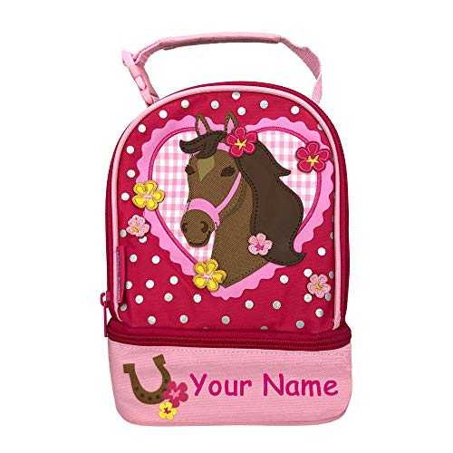- Stephen Joseph Personalized Western Brown Horse with Flowers Lunch Pals Lunch Box Bag with Custom Name
