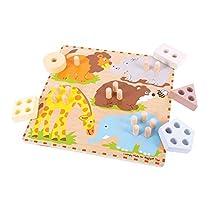 Bigjigs Toys BJ443 Safari Animal Sorting Board