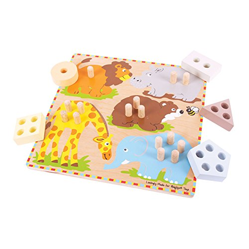 Bigjigs Toys BJ443 Safari Animal Sorting Board