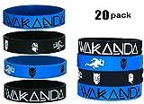 20 pcs Wakanda Party Favors Wristband/Size Adult and Kids. (Black Panther, Kids)