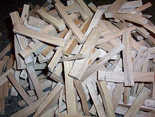 One Pound Kiln Dried American White Oak Sticks for Aging and Flavoring Alcohol