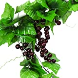 Molliy 8FT 5pcs Artificial Greenery Chain Grapes