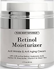 Retinol Cream benefits: - Antioxidants like green tea and wheat germ oil help to prevent damage due to chemical and environmental exposure. - Help reduce the appearance of wrinkles, dark spots due to sun damage while increasing your skin's firmness a...