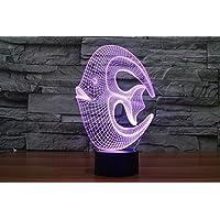 Creative 3d 7Color LED Luz nocturna que cambia Animal Inspiración Lámpara Ilusión óptica efecto iluminación Home Decor