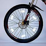 Willceal Bike Spoke Light 6PCS, Bike Wheel Light,Tyre Wire Right with 6 LED Flash Model Neon Lamps,Bike Safety Alarm Light. (White)