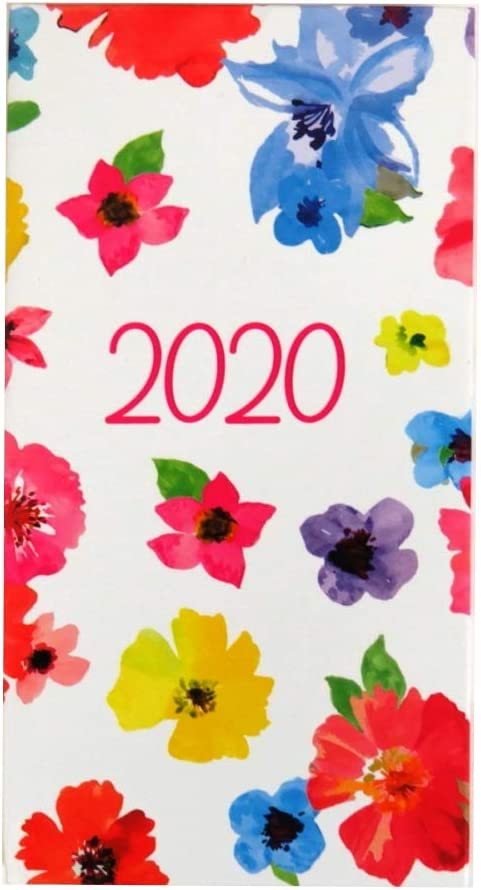 Agenda semainier 2020 fin Motif floral ou ray/é 160 x 85 mm Flower Art