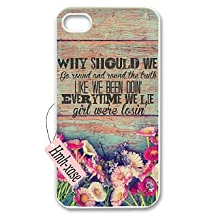 DIY Case Cover for iPhone 4, iPhone 4s w/ Florida Georgia Line image at Hmh-xase (style 9)