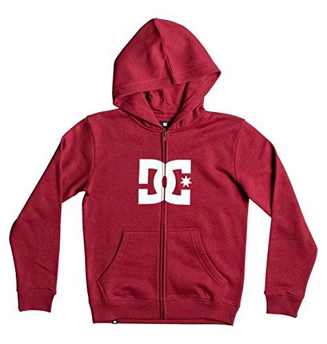 Dc Red Sweatshirt (DC Big Boys' Star ZH Hoody Zip Sweatshirts, 10/Small,Rio Red)