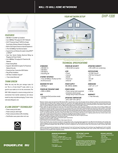 512ay5AvGZL - D-Link DHP-1320 Wireless-N PowerLine Router