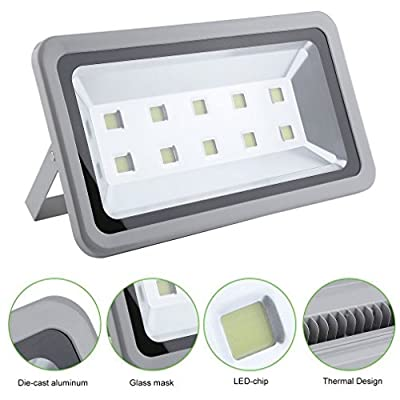 iMeshbean 500W Cool White Bright IP65 Outdoor Path Waterproof LED Flood Light