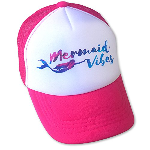 Sol Baby Mermaid Vibes Hot Pink Trucker Hat-L-Pink,Large / 5-12 Years