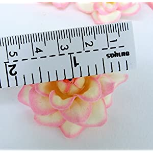 """(100) Silk Dark Red Roses Flower Head - 1.75"""" - Artificial Flowers Heads Fabric Floral Supplies Wholesale Lot for Wedding Flowers Accessories Make Bridal Hair Clips Headbands Dress 5"""