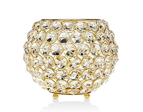 Godinger Glam Ball Holiday Decoration Table Centerpieces Dining Room Halloween Thanksgiving Gift - Gold