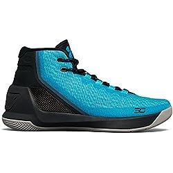 Under Armour Adult UA Curry 3 Basketball Shoes, Island Blue/Blue Drift/Steel, 10.5 D(M) US
