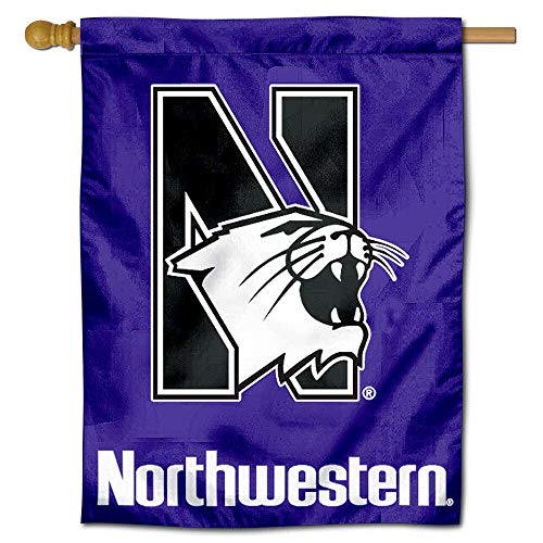 College Flags and Banners Co. Northwestern University Wildcats House Flag - Flag House University Banner