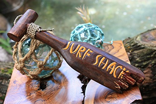 """Surf Shack"" Hanging Paddle - 12"" - Surf Decor"