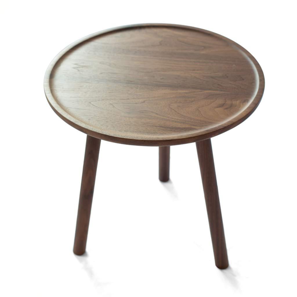 サイドテーブル ローテーブルテレフォンテーブルベッドサイドテーブルモダンミニマリストホームソリッドウッド製ソファーサイドリビングルームラウンドローテーブルクラブサイドラウンドベッドサイドテーブル55cm カウンターテーブル (Color : Brown, Size : 55*55*55cm) B07NQFGX5G Brown 55*55*55cm