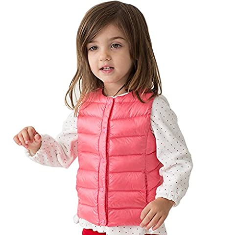 marc janie Baby Toddler Boys Girls' Packable Lightweight Down Puffer Vest Peach 18 Months - Infant Nylon Vest
