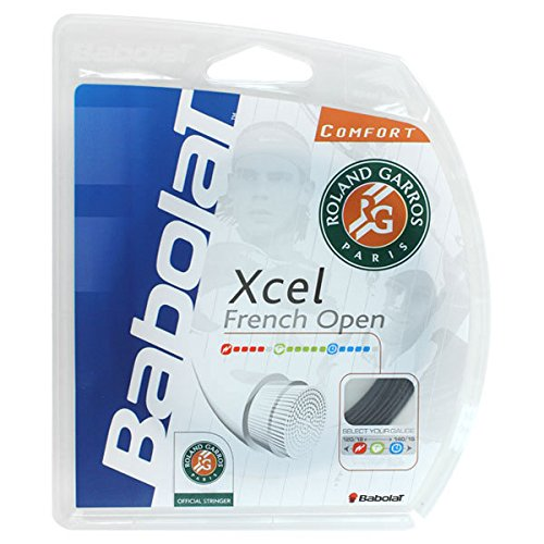 Babolat Xcel French Open 17G Tennis Racquet String Black,40Ft