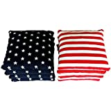 8 Regulation Cornhole Bags Stars and Stripes Handmade Expedited Shipping