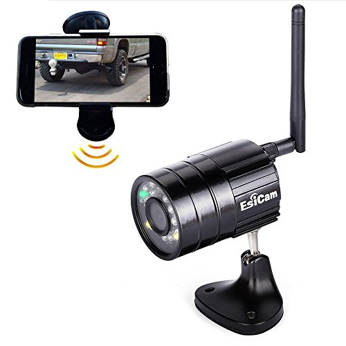 EsiCam Battery Backup Camera Wireless for Smart Phone Versatile Used for RV Travel Trailer Hitch Tow Truck Home Security Baby Monitor Creative All In One Camera with Flash and Battery-EH05-B (Travel Trailer Tow)