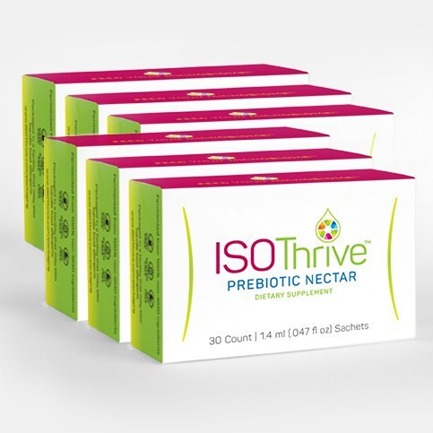 ISOThrive Prebiotic Nectar - Naturally Fermented Fiber microFood, Unique Supplement for Gut Health (6 Pack, 180 Servings) by ISOThrive