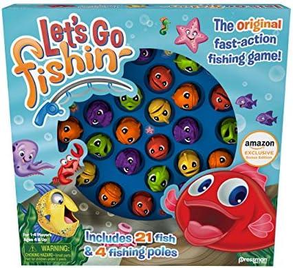 [해외]Pressman Let`s Go Fishin` Game -- 클래식 게임 / Pressman Amazon Exclusive Bonus Edition Let`s Go Fishin` - Includes Lucky Ducks Make-A-Match Game