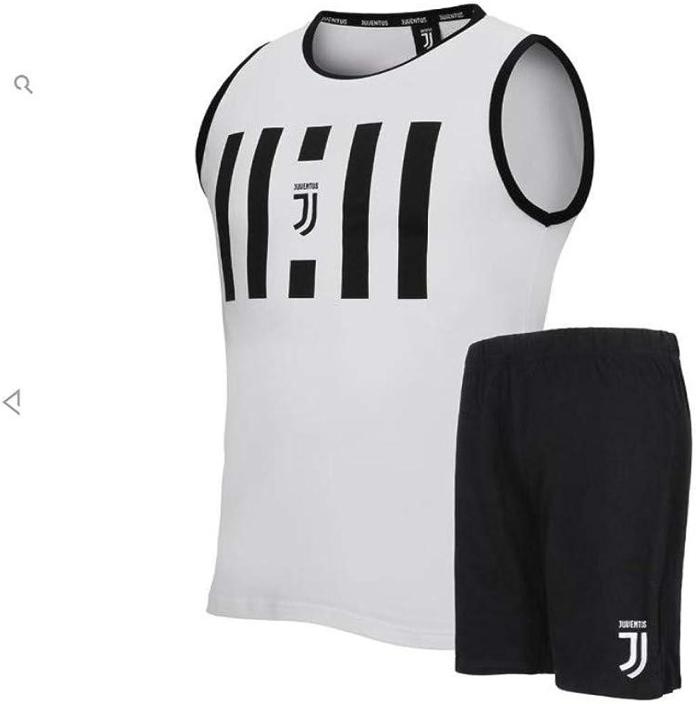 Bambino//Ragazzo Varie Taglie Disponibili Juventus F.C Pigiama Smanicato con Pantaloncini Due Pezzi