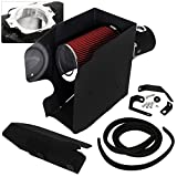 For Ford F250 F350 F450 V8 6.4L High Flow Induction Air Intake System + Heat Shield Black Piping Kit