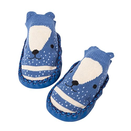 Price comparison product image Baby Socks Shoes, Vanvler Toddler Boy Girls Anti-Slip Slipper Bell Shoes Boots (Navy,  Age:12-18M / CN13)