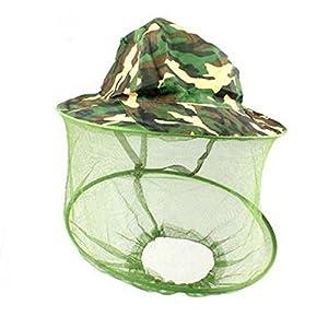 BIYI Ventilato per Tutte Le Stagioni Anti-zanzara Ape Insetto Pesca all'aperto Sting Proof Mesh cap Cappello Protezione Solare Cappello Mimetico (Mimetico) 2 spesavip