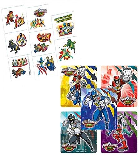 Power Rangers Kids Temporary Party Favor Tattoos! Plus Bonus Power Rangers 8ct Sticker Sheets