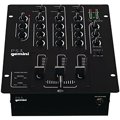Gemini PS3 Professional 3-Channel Stereo DJ Mixer with USB from Gemini