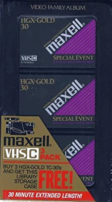 Maxell VHS-C 3-Pack video cassettes by Maxell