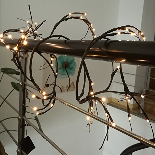 Lighted Twigs Home Decorating: Babali 6ft LED Lighted Twig Garland Battery Operated 60 Warm White Decor. Lighted Willow Vine