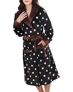 38b6e1f00c54 Femme Vêtement De Nuit Mode Elégante Confortables Peignoir Automne Occasion  Robe De Chambre Longues Hiver Manches