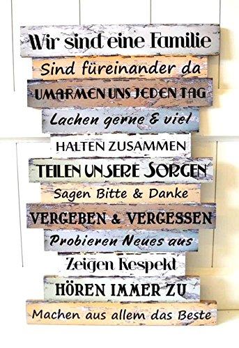 Nostalgie Deko Küche | Amazon De Schild Holz Nostalgie Familie Familienregeln Deko Bild