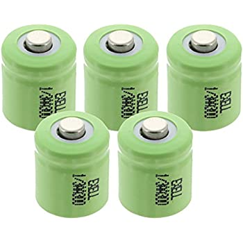 Amazon.com: 16 X 1/3 Aaa 150 Mah Nimh Battery - Button Top