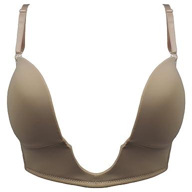 bb3be6e50e2ce NuBra Women s U Plunge Bra - Deep U-Shaped Low Back Low Plunge U-Bra ...