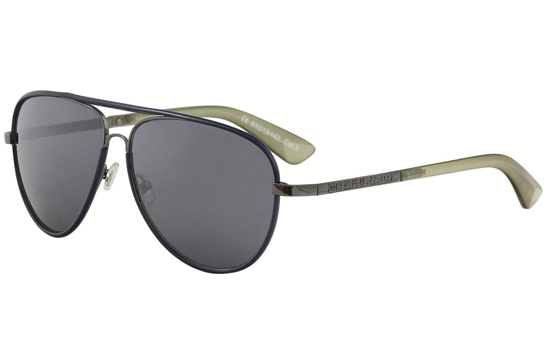 Superdry Mens SDS Milton 205 Gunmetal//Navy Fashion Pilot Sunglasses 61mm