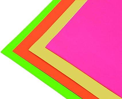 Pack 10 Cartulinas Color RosaFluor Tamaño 50x65 240g: Amazon.es: Oficina y papelería