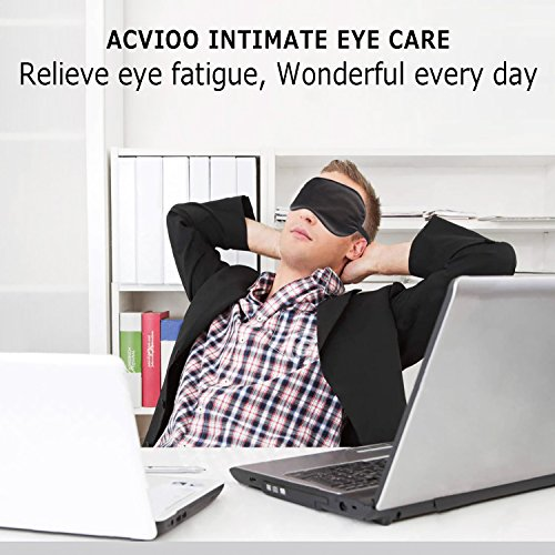 Natural Silk Sleep Mask for Women & Men with Adjustable Strap, 2 Pack, Super Soft & Smooth Eye Mask Blindfold for A Full Night Sleeping, Travel, Shift Work & Meditation, Works with Every Nap Position by ACVIOO (Image #4)
