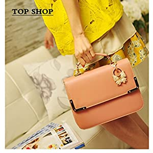 FTSUCQ Womens Envelope Flap Totes Messenger Shoulder Bags Handbags Hobos Pink Clutches